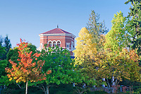 Weatherford Residential College building with fall color. Oregon State University.