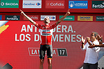 Tomasz Marczynski (POL) Lotto-Soudal wins his 2nd stage, Stage 12 of the 2017 La Vuelta, running 160.1km from Motril to Antequera Los D&oacute;lmenes, Spain. 31st August 2017.<br /> Picture: Unipublic/&copy;photogomezsport | Cyclefile<br /> <br /> <br /> All photos usage must carry mandatory copyright credit (&copy; Cyclefile | Unipublic/&copy;photogomezsport)