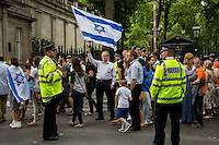 "20.07.2014 - ""Emergency Rally For Israel"" - ZF Demo Outside Israeli Embassy & Counter demo"
