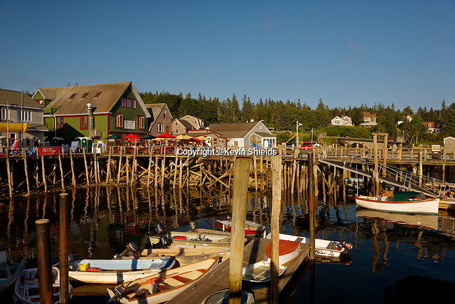 Waterfront at Port Clyde, St. George, Maine, USA