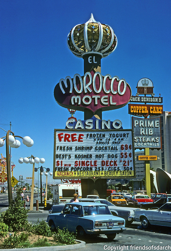 Las Vegas: Morocco Motel sign. Photo '79.
