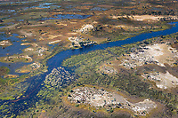 Water floods the Okavango Delta, Botswana, Africa
