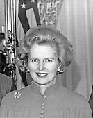 "Newly elected British Conservative Party Leader Margaret Thatcher attends a luncheon in her honor hosted by the United States Senate Foreign Relations Committee in the United States Capitol in Washington, D.C. on Thursday, September 18, 1975.  Mrs. Thatcher is the first woman elected Conservative Party leader.  Thatcher died from a stroke at 87 on Monday, April 8, 2013..Credit: Benjamin E. ""Gene"" Forte - CNP"