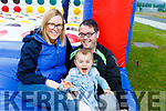 Jamie, Michaela Ryle and Laura Griffin supporting the Inspire fun day in John Mitchels on Sunday