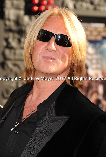 HOLLYWOOD, CA - JUNE 08: Joe Elliott of Def Leppard  arrives at the 'Rock Of Ages' - Los Angeles Premiere at Grauman's Chinese Theatre on June 8, 2012 in Hollywood, California.