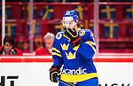 Stockholm 2014-05-03 Ishockey Oddset Hockey Games  Sverige - Finland :  <br /> Sveriges Joakim Lindstr&ouml;m ser deppig ut<br /> (Foto: Kenta J&ouml;nsson) Nyckelord:  Oddset Hockey Games Sverige Swe Tre Kronor Finland Fin Globen Ericsson Globe Arena depp besviken besvikelse sorg ledsen deppig nedst&auml;md uppgiven sad disappointment disappointed dejected portr&auml;tt portrait