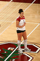 10 November 2005: Katie Goldhahn during Stanford's 3-0 win over Arizona State at Maples Pavilion in Stanford, CA.