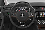 Car pictures of steering wheel view of a 2015 Skoda Octavia Scout 5 Door Wagon Steering Wheel