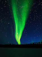 Aurora Borialis over National Park in Lapland, Finland.