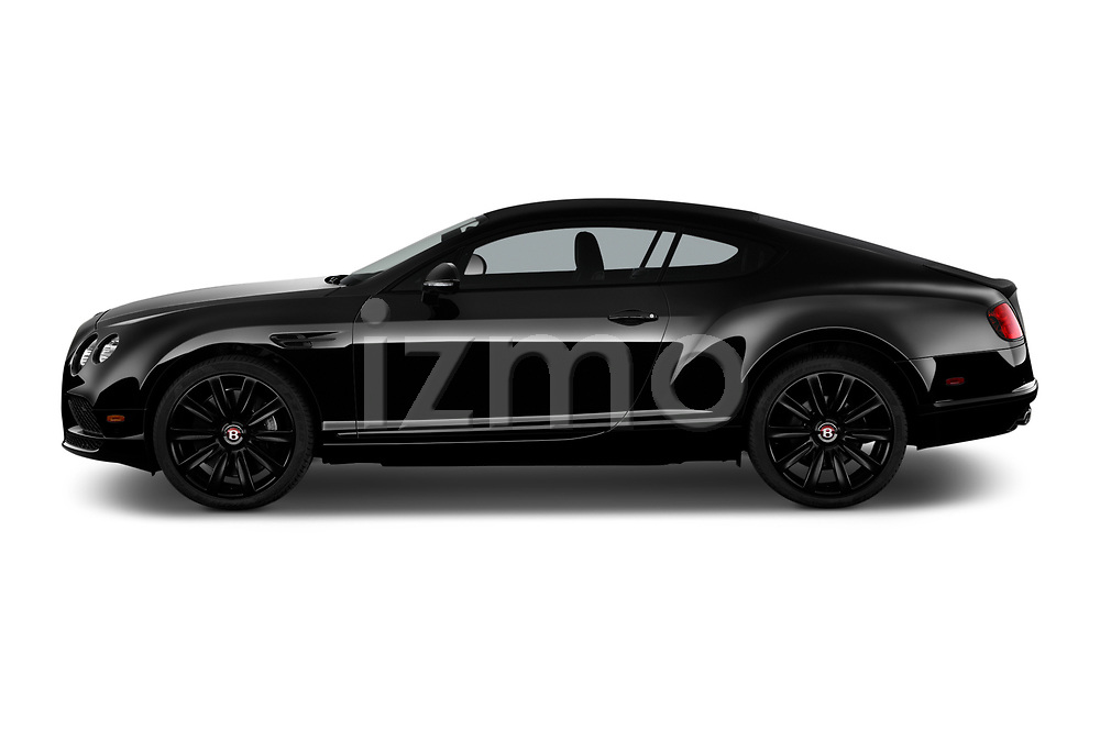Car Driver side profile view of a 2016 Bentley Continental-GT V8 3 Door Coupe Side View