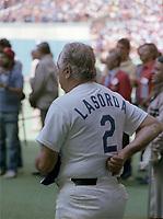 Lasorda au All Star Workout, le 12 juillet 1982<br /> <br /> <br /> PHOTO : Agence Quebec Presse