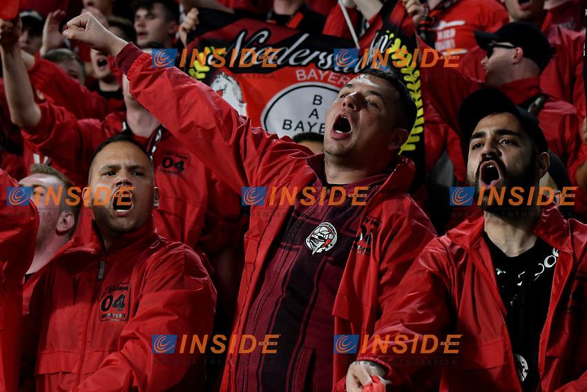 Leverkusen fans cheer on prior to the match <br /> Torino 01/10/2019 Juventus Stadium <br /> Football Champions League 2019//2020 <br /> Group Stage Group D <br /> Juventus - Leverkusen <br /> Photo Andrea Staccioli / Insidefoto