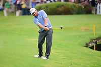 J.B. Holmes (USA) hits his second shot from drop zone on 17  during round 3 of the World Golf Championships, Mexico, Club De Golf Chapultepec, Mexico City, Mexico. 3/4/2017.<br /> Picture: Golffile | Ken Murray<br /> <br /> <br /> All photo usage must carry mandatory copyright credit (&copy; Golffile | Ken Murray)
