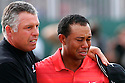 Tiger Woods of the US in tears is consoled by his caddie, Steve Williams after the final round of the Open Championship at Royal Liverpool Golf Club, Hoylake, on July 23rd, 2006. (Photo by Phil Inglis) .