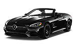 2017 Mercedes Benz SL AMG 63 2 Door Convertible angular front stock photos of front three quarter view