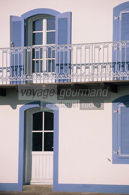 Europe/France/Bretagne/56/Morbihan/Belle-île/Sauzon: Le port de pêche - Détai maisons de pêcheurs à la cale Saint-Nicolas