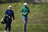 Tiernan McLarnon (Massereene) and Caolan Rafferty on the bag on the 6th fairway during Round 3 of the Lytham Trophy, held at Royal Lytham & St. Anne's, Lytham, Lancashire, England. 05/05/19<br /> <br /> Picture: Thos Caffrey / Golffile<br /> <br /> All photos usage must carry mandatory copyright credit (© Golffile | Thos Caffrey)