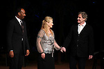 Jesse L. Martin, Meryl Streep & Kevin Kline.pictured during Curtain Call for the Public Theater Celebrates 50 Years at the Delacorte Theater with a Benefit Reading of ''Romeo And Juliet'  in Central Park, New York City on June 18, 2012