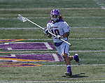 Troy Reh (#10) clears as UAlbany Lacrosse defeats Vermont 14-4  in the American East Conference Championship game at Casey Stadium, May 5.