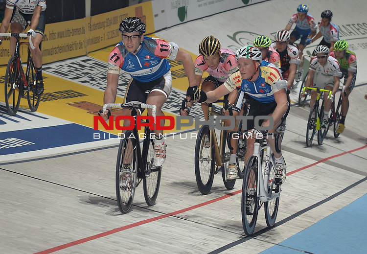 12.01.2014, &Ouml;VB Arena, Bremen, GER, Sixdays Bremen, im Bild Nicky Cocquyt / Tino Th&ouml;mel (Team Citipost #11)<br /> <br /> Foto &copy; nordphoto / Frisch