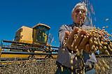 Tranquilo Favero, principal productor de soja del Paraguay, en su campo cerca de la frontera con Brasil