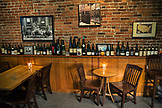 USA, Oregon, Willamette Valley, the back room at Nick's Italian Cafe in McMinville