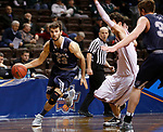 SIOUX FALLS, SD: MARCH 22: Caleb Waitsman #23 of Colorado Mines drives past a Bellarmine defender during the Men's Division II Basketball Championship Tournament on March 22, 2017 at the Sanford Pentagon in Sioux Falls, SD. (Photo by Dick Carlson/Inertia)