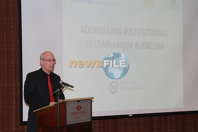At the Launch of the County Louth Peace and Reconciliation Partnership Action plan 2008-2010 Institutional Sectarianism and Racism, in the Crowne Plaza Hotel Dundalk..Ronan Dennedy CEO Louth County Enterprise Board..Picture Fran Caffrey/Newsfile.ie