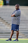 13 September 2016: ETSU head coach Bo Oshoniyi. The University of North Carolina Tar Heels hosted the East Tennessee State University Buccaneers at Fetzer Field in Chapel Hill, North Carolina in a 2016 NCAA Division I Men's Soccer match. ETSU won the game 1-0 in sudden death overtime.