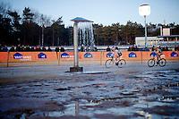 Sabrina Stultiens (NLD/Rabobank-Liv) leading Ellen Van Loy (BEL/Telenet-Fidea)<br /> <br /> Zilvermeercross 2014
