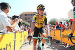 Tony Martin (GER) Team Jumbo Visma arrives at sign on before Stage 7 of La Vuelta 2019 running 183.2km from Onda to Mas de la Costa, Spain. 30th August 2019.<br /> Picture: Luis Angel Gomez/Photogomezsport | Cyclefile<br /> <br /> All photos usage must carry mandatory copyright credit (© Cyclefile | Luis Angel Gomez/Photogomezsport)