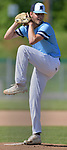 Belleville East pitcher Evan Gray winds up against Alton in a Class 4A regional semifinal at Alton High School in Alton, IL on Thursday May 23, 2019.<br /> Tim Vizer/Special to STLhighschoolsports.com