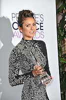 Nina Dobrev in the pressroom at the 2014 People's Choice Awards at the Nokia Theatre, LA Live.<br /> January 8, 2014  Los Angeles, CA<br /> Picture: Paul Smith / Featureflash