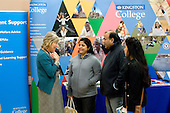 Open Day at Kingston College when prospective students and their parents look around.