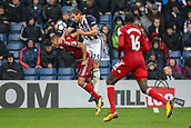 30th September 2017, The Hawthorns, West Bromwich, England; EPL Premier League football, West Bromwich Albion versus Watford; Craig Dawson of West Bromwich Albion gives away a foul on the edge of the box