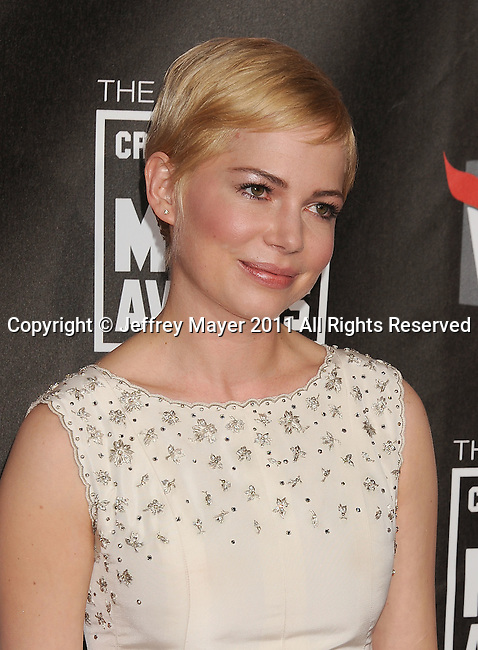 HOLLYWOOD, CA - January 14: Michelle Williams   arrives at the 16th Annual Critics' Choice Movie Awards at the Hollywood Palladium on January 14, 2011 in Hollywood, California.
