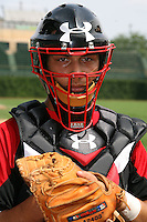 August 7, 2009:  Catcher Alex Lavisky (14) of the Baseball Factory team during the Under Armour All-America event at Wrigley Field in Chicago, IL.  Photo By Mike Janes/Four Seam Images
