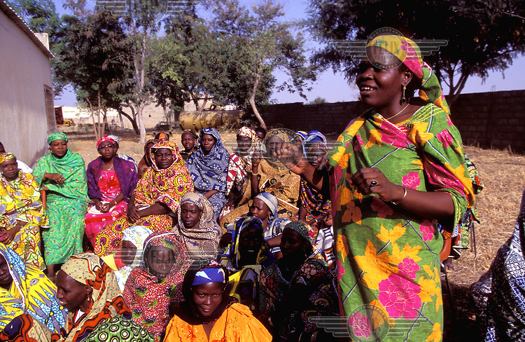 ©Giacomo Pirozzi/Panos Pictures..North Cameroon. Women's co-operative meeting.