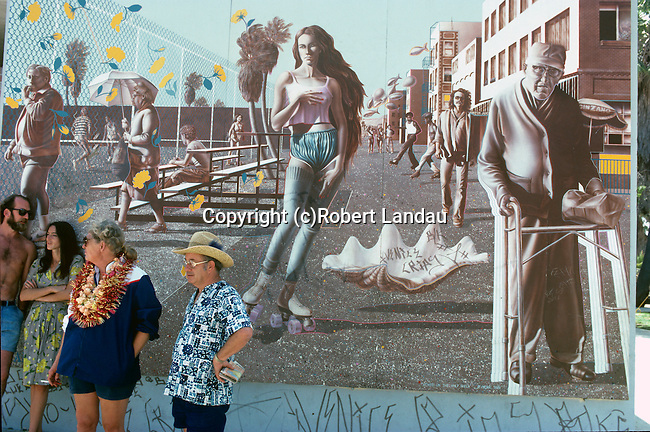 Mural in Venice Beach, CA 1985