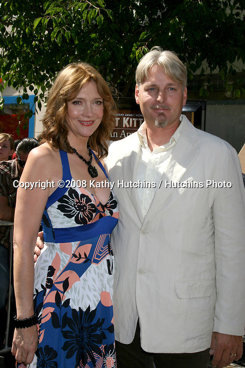 Glenne Headley & Husband arriving at the poremiere of Kit Kittredge at The Grove in Los Angeles, CA.June 14, 2008.©2008 Kathy Hutchins / Hutchins Photo .