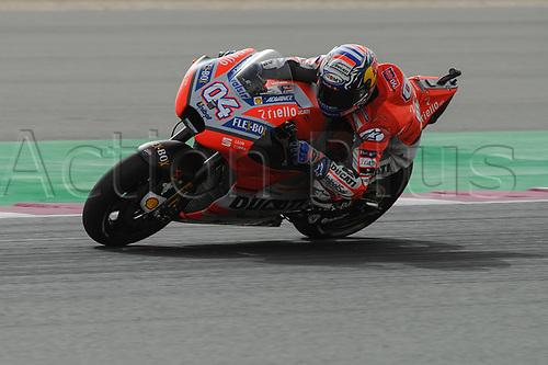 17th March 2018, Losail International Circuit, Lusail, Qatar; Qatar Motorcycle Grand Prix, Saturday qualifying;Andrea Dovizioso (Ducati)