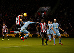 George Baldock of Sheffield Utd scores the third goal during the Championship match at Bramall Lane Stadium, Sheffield. Picture date 26th December 2017. Picture credit should read: Simon Bellis/Sportimage