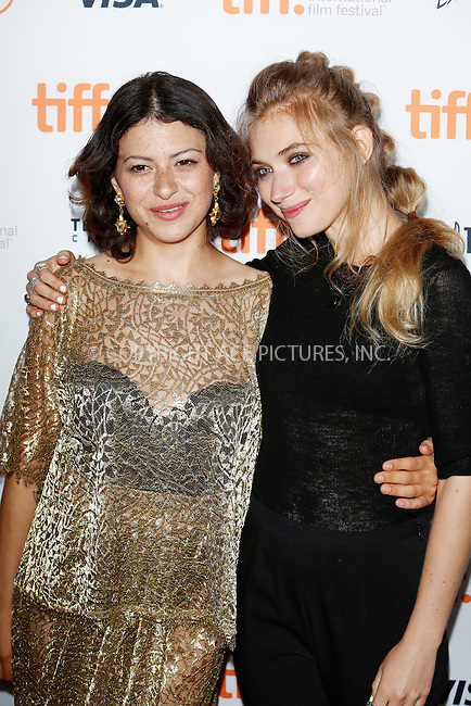 WWW.ACEPIXS.COM<br /> <br /> September 10 2015, Toronto<br /> <br /> Actresses Alia Shawkat (l) and Imogen Poots at the premiere of The Green Room during the 40th Toronto International Film Festival at the Ryerson Theatre in Toronto, Canada, on 10 September 2015<br /> <br /> By Line: Famous/ACE Pictures<br /> <br /> <br /> ACE Pictures, Inc.<br /> tel: 646 769 0430<br /> Email: info@acepixs.com<br /> www.acepixs.com