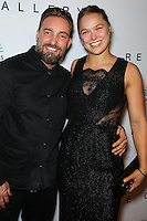 WEST HOLLYWOOD, CA, USA - OCTOBER 23: Brian Bowen Smith, Ronda Rousey arrive at Brian Bowen Smith's First Solo Show 'Wildlife' held at the De Re Gallery on October 23, 2014 in West Hollywood, California, United States. (Photo by Celebrity Monitor)