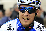 Matteo Trentin (ITA) Quick-Step Floors team at sign on before the start of the 2017 Strade Bianche running 175km from Siena to Siena, Tuscany, Italy 4th March 2017.<br /> Picture: Eoin Clarke | Newsfile<br /> <br /> <br /> All photos usage must carry mandatory copyright credit (&copy; Newsfile | Eoin Clarke)