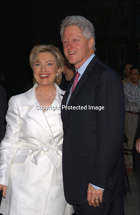 Hillary & Bill Clinton                                      ..at Hillary Clinton's book party at the 4 Season's Restaurant ..on June 16,2003 in NYC.                                                            Photo by Robin Platzer, Twin Images
