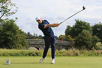 Conor Purcell of Team Ireland on the 1st during Round 3 of the WATC 2018 - Eisenhower Trophy at Carton House, Maynooth, Co. Kildare on Friday 7th September 2018.<br /> Picture:  Thos Caffrey / www.golffile.ie<br /> <br /> All photo usage must carry mandatory copyright credit (&copy; Golffile | Thos Caffrey)