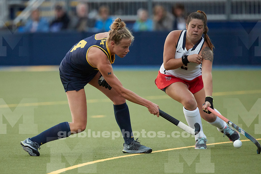 The University of Michigan field hockey teams beats Liberty University, 3-0, at Ocker Field in Ann Arbor on Sept. 1, 2017.