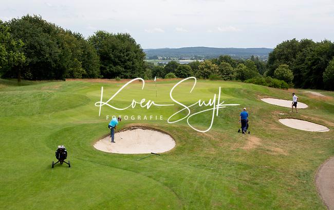 GROESBEEK - Groesbeekse Baan Zuid 6 (par 3) , met zicht op Duitsland. Golfbaan Het Rijk van Nijmegen. COPYRIGHT  KOEN SUYK