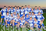 Castleisland Desmonds squad celebrates after defeating kenmare in the Barrett Cup final in Kilcummin Friday evening..